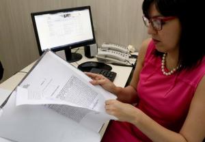 La jueza en lo Civil y Comercial del 18º Turno, Vivian López, brindó una entrevista a la prensa